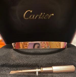 Cartier love bracelet/Rose gold/suze 18